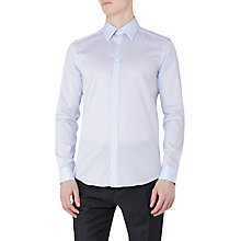 Buy Reiss Havier Large Collar Slim Fit Shirt, Soft Blue Online at johnlewis.com