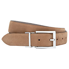 Buy Reiss Whit Reversible Suede Belt, Taupe/Tan Online at johnlewis.com