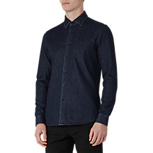Buy Reiss Harrison Slim Fit Denim Shirt, Navy Online at johnlewis.com