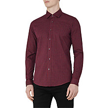 Buy Reiss El Rouge Check Slim Fit Shirt, Red Online at johnlewis.com