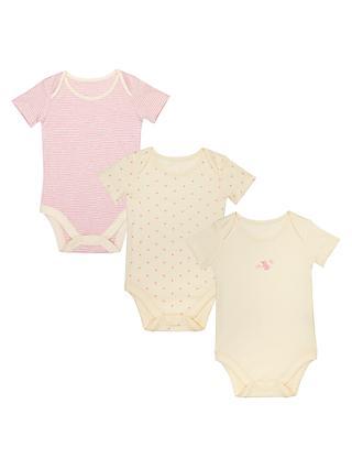 cfa2ab82f3 John Lewis   Partners Baby GOTS Organic Mouse Print Bodysuit