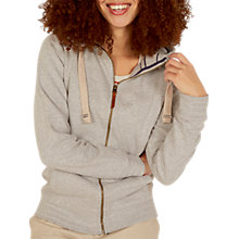 Buy Fat Face Club Graphic Zip Through Hoodie, Grey Marl Online at johnlewis.com