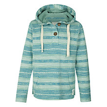 Buy Fat Face Paignton Popover Hoodie, Turquoise Online at johnlewis.com