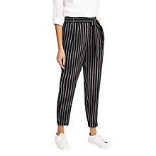 Buy Phase Eight Helena Striped Soft Trousers, Navy/White Online at johnlewis.com