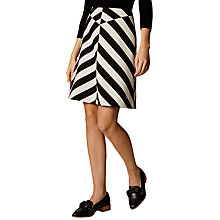 Buy Karen Millen Block Stripe Skirt, Black/White Online at johnlewis.com