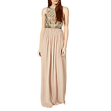 Buy Phase Eight Collection 8 Fergie Beaded Dress, Nude Online at johnlewis.com