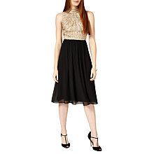 Buy Phase Eight Collection 8 Elfreda Dress, Black/Camel Online at johnlewis.com