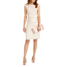Buy Phase Eight Ally Lace Layered Dress, Cameo/Ivory Online at johnlewis.com
