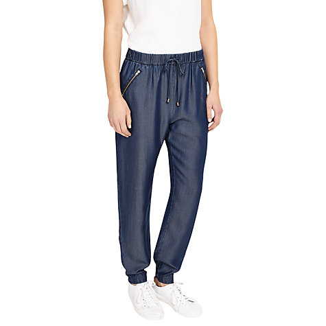 Buy Phase Eight Crista Jogger Trousers, Chambray Online at johnlewis.com