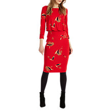 Buy Phase Eight Meredith Blouson Dress, Red Online at johnlewis.com