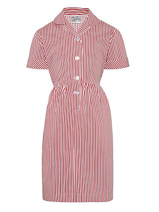 Redmaids School Girls' School Summer Dress, Red/White