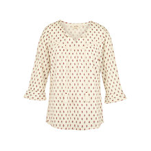 Buy Fat Face Athena Woodblock Ditsy Popover Top, Ivory Online at johnlewis.com