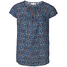 Buy Fat Face Florence Jewel Geo Print Blouse, Indigo Online at johnlewis.com