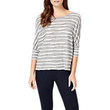 Buy Phase Eight Wanda Wave Stripe Top, Ivory/Grey Online at johnlewis.com