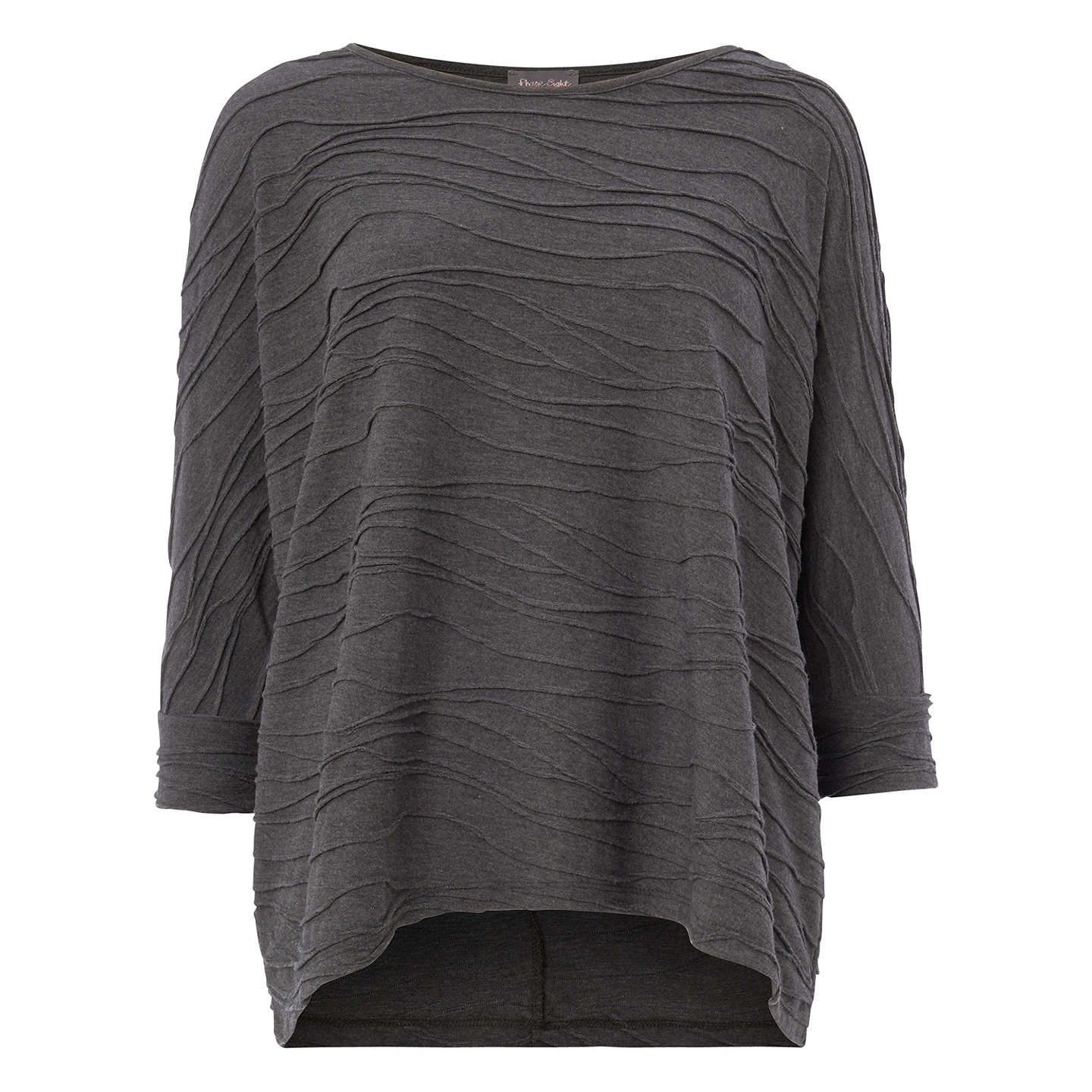 BuyPhase Eight Wendy Wave Textured Top, Silver, 8 Online at johnlewis.com