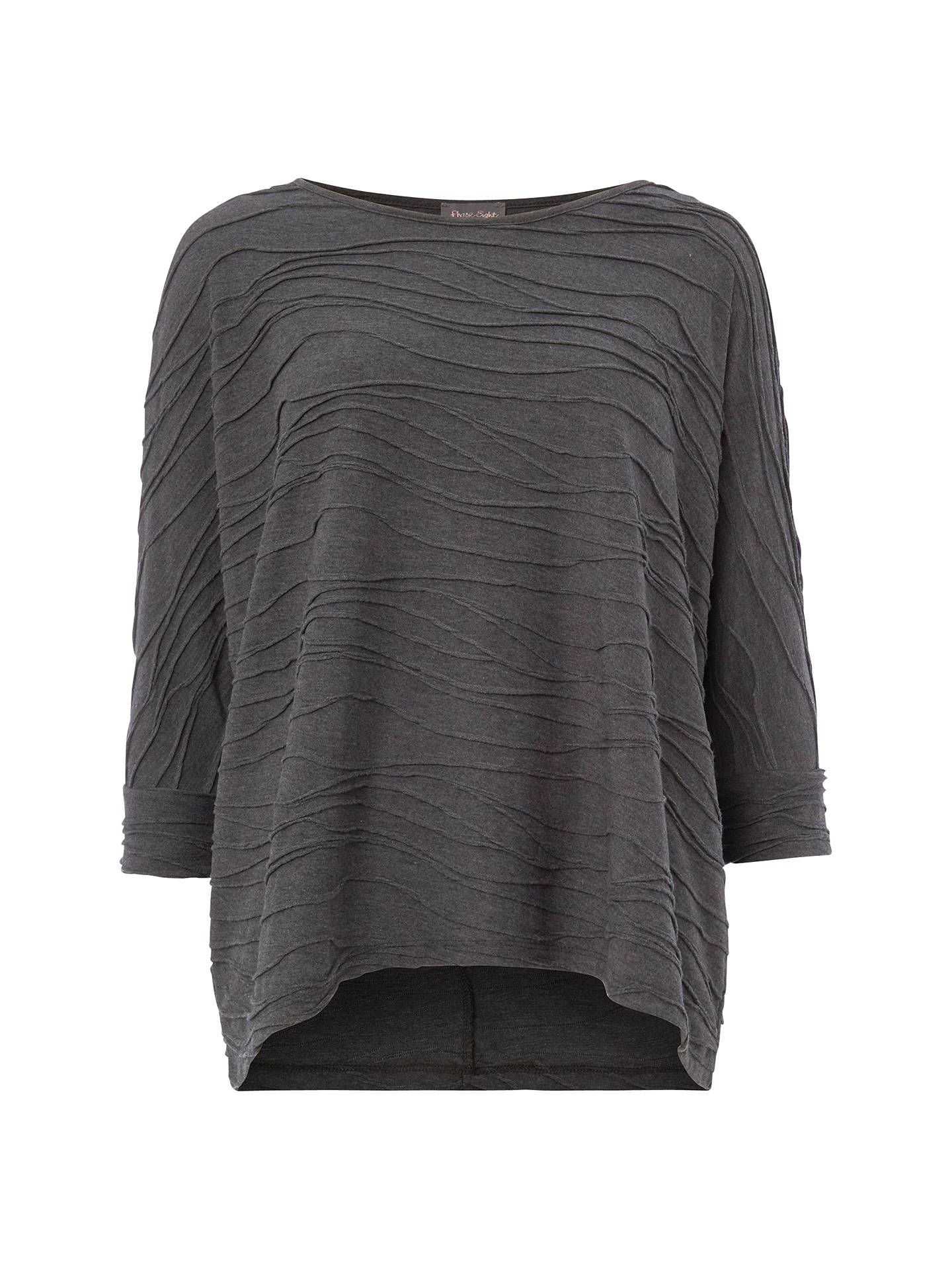 812aea14042eb0 Buy Phase Eight Wendy Wave Textured Top, Silver, 8 Online at johnlewis.com  ...