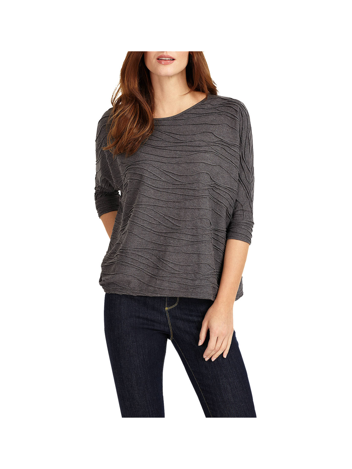 cb01a740c37137 ... Buy Phase Eight Wendy Wave Textured Top, Silver, 8 Online at  johnlewis.com ...