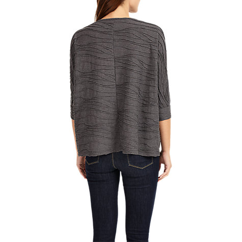 Buy Phase Eight Wendy Wave Textured Top, Silver Online at johnlewis.com