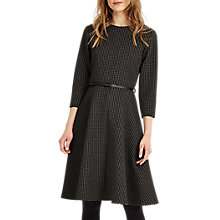 Buy Phase Eight Suzie Swing Spot Dress, Black/Charcoal Online at johnlewis.com