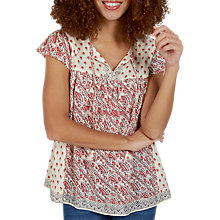 Buy Fat Face Florence Patchwork Blouse, Ivory Online at johnlewis.com