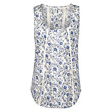 Buy Fat Face Cassie Trailing Woodblock Camisole Top, Ivory Online at johnlewis.com