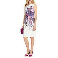 Buy Phase Eight Jessica Floral Print Dress, Ivory Online at johnlewis.com