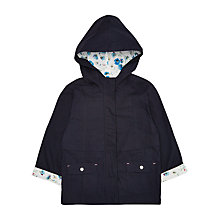 Buy Jigsaw Girls' Dandelion Print Mac, Navy Online at johnlewis.com