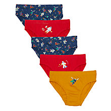 Buy John Lewis Boys' Astronaut Briefs, Pack of 5, Multi Online at johnlewis.com