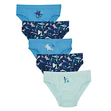 Buy John Lewis Boys' Nautical Briefs, Pack of 5, Blue/Multi Online at johnlewis.com