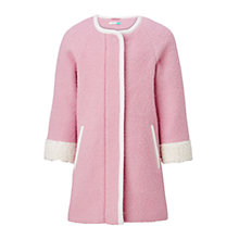 Buy John Lewis Girls' Coatigan, Pink Online at johnlewis.com