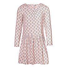 Buy John Lewis Girls' Tile Printed Dress, Cameo Rose Online at johnlewis.com