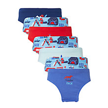 Buy John Lewis Boys' Night Hike Briefs, Pack of 7, Blue Online at johnlewis.com
