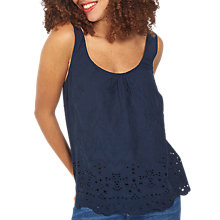 Buy Fat Face Chloe Broderie Cami, Navy Online at johnlewis.com