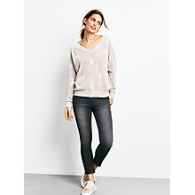 Buy hush Fay V-Neck Star Jumper, Biscuit Online at johnlewis.com