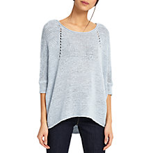 Buy Phase Eight Aideen Tape Yarn Jumper, Soft Blue Online at johnlewis.com