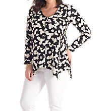 Buy Chesca Abstract Jigsaw Jacket, Black/Ivory Online at johnlewis.com