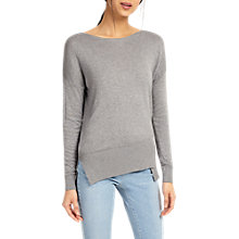 Buy Phase Eight Leanna Asymmetric Jumper, Grey Marl Online at johnlewis.com