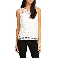 Buy Phase Eight Alba Lace Shell Top Online at johnlewis.com