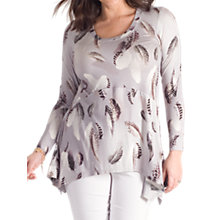 Buy Chesca Feather Print Tunic, Grey Online at johnlewis.com