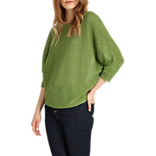 Buy Phase Eight Delmi Linen Batwing Jumper, Chlorophyll Green Online at johnlewis.com