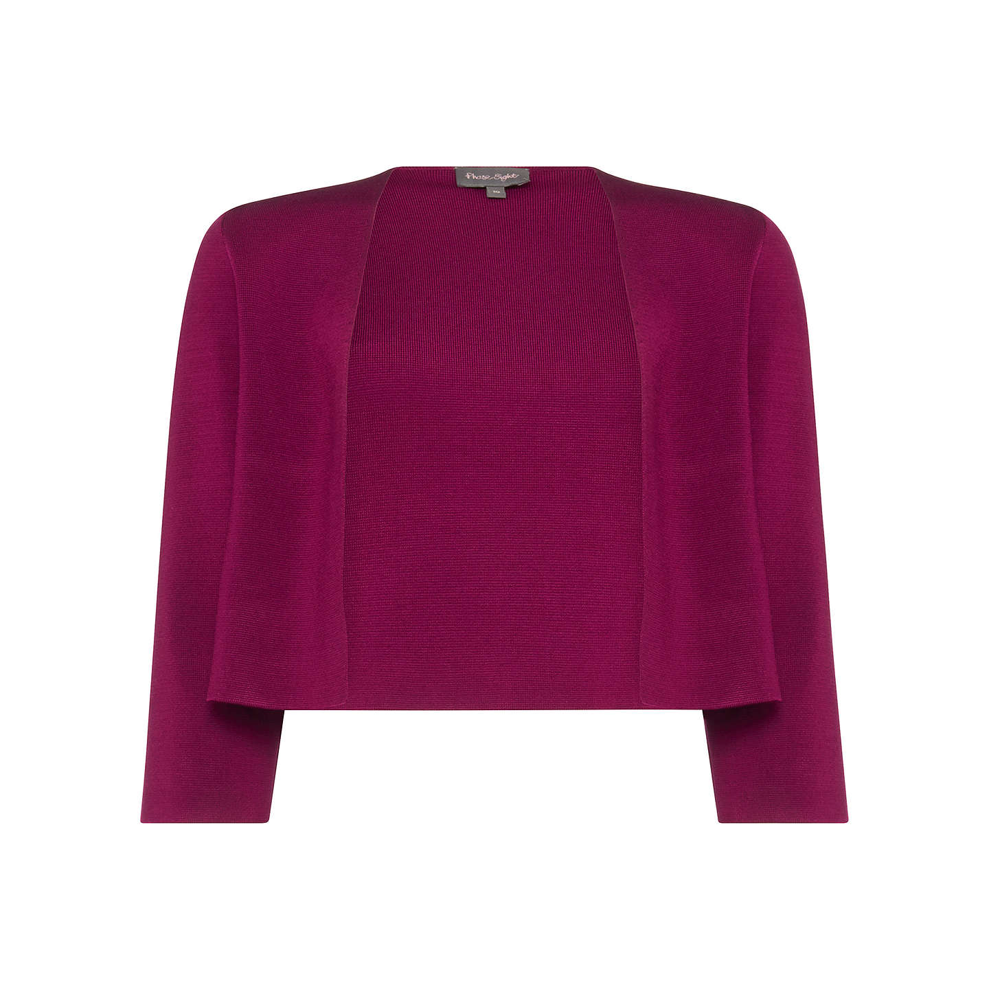 BuyPhase Eight Salma Knitted Jacket, Aubergine, 10 Online at johnlewis.com