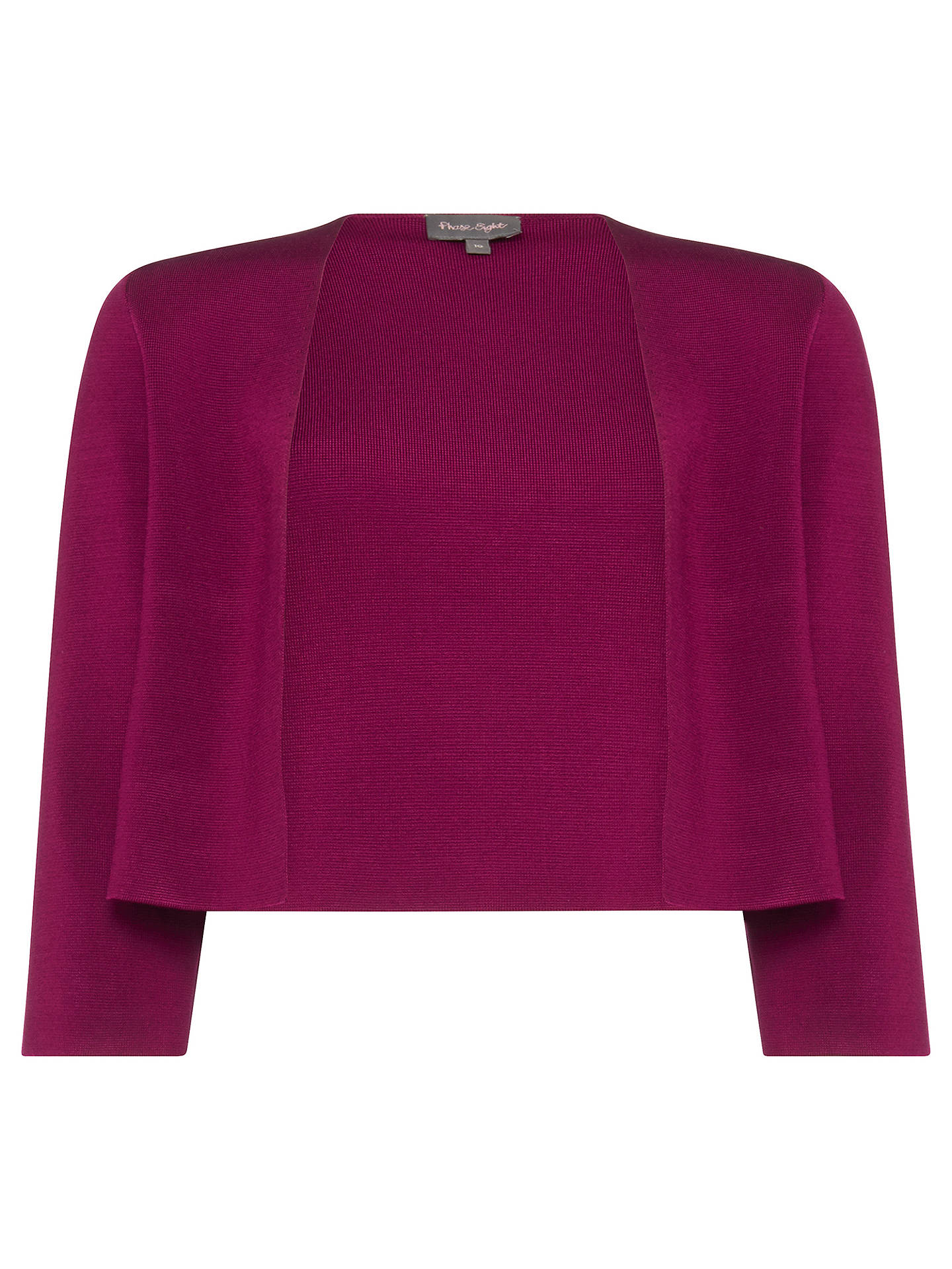 BuyPhase Eight Salma Knitted Jacket, Aubergine, 8 Online at johnlewis.com