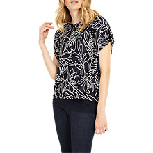Buy Phase Eight Cecily Jacquard Double Layer Top, Navy/Ivory Online at johnlewis.com