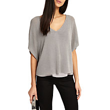 Buy Phase Eight Imelda Double Layer Jumper, Gunmetal Online at johnlewis.com