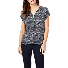 Buy Phase Eight Denver Remi Blouse, Navy Online at johnlewis.com