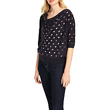 Buy Phase Eight Halina Hole Detail Jumper, Navy Online at johnlewis.com