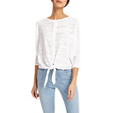 Buy Phase Eight Felia Tie Front Jumper, White Online at johnlewis.com