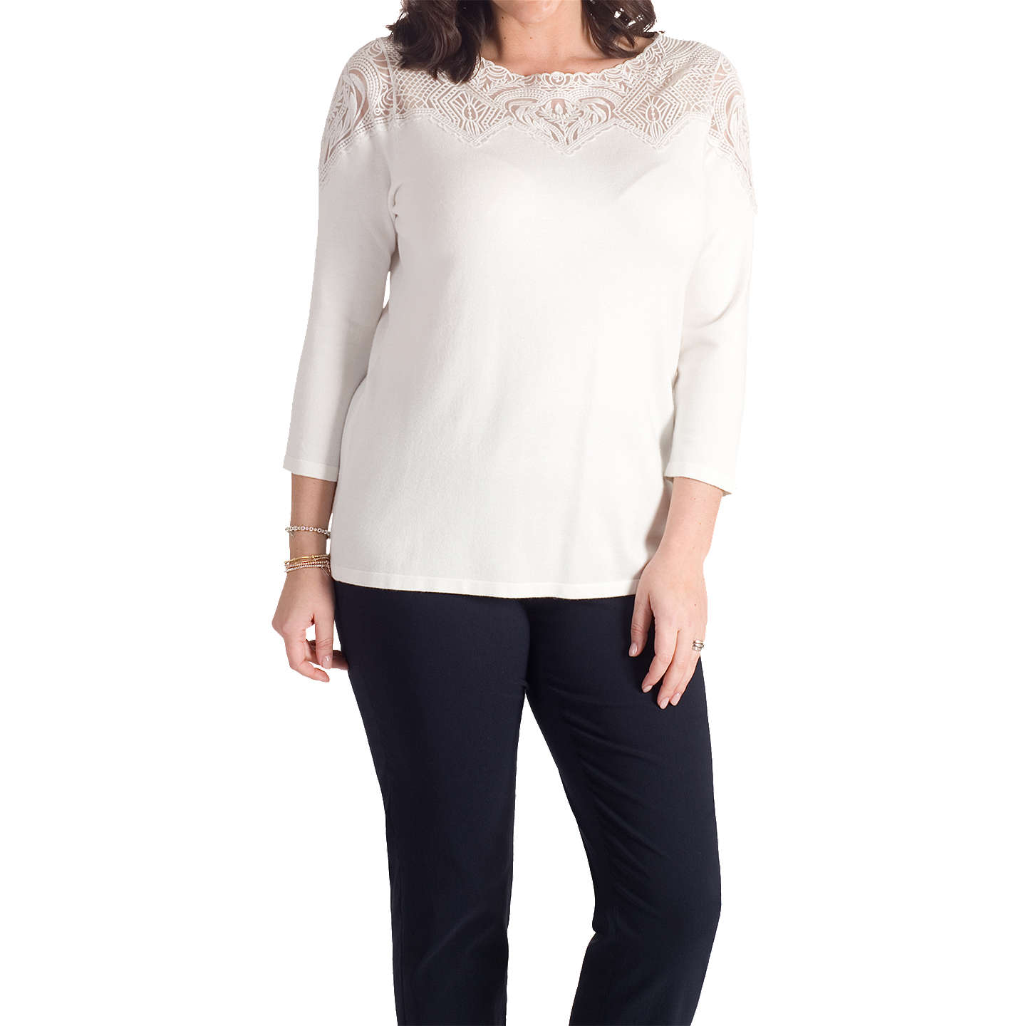 BuyChesca Embroidered Yoke Jumper, Ivory, 12-14 Online at johnlewis.com