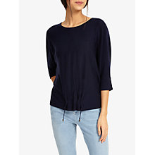Buy Phase Eight Raaker Ruch Front Knit Jumper, Navy Online at johnlewis.com