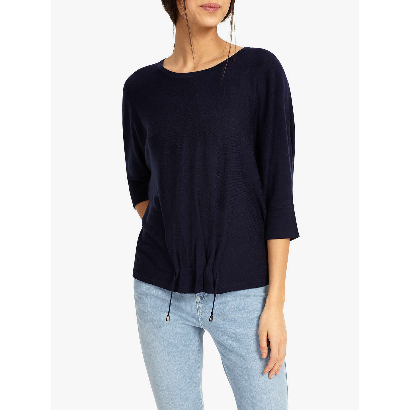 BuyPhase Eight Raaker Ruch Front Knit Jumper, Navy, XS Online at johnlewis.com